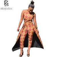 Summer Women Tall Waist African Print Pants Line Nine Minutes 100% Cotton Manufactures