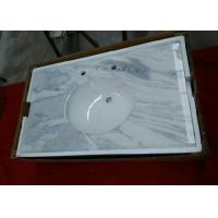 China Dream White Onyx Marble Bathroom Countertops / Kitchen Marble Worktops Flat Edge on sale