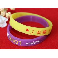 Promotional 202mm Colored Rubber Wristbands , Personalized Rubber Bracelets Wearable Manufactures
