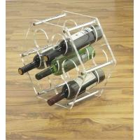 Stainless Steel Wine Display Stands Clear Acrylic For Bottles Manufactures