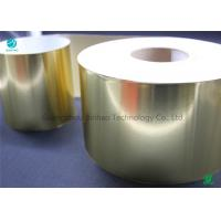 China Glossy Eco Friendly Silver / Gold Aluminum Foil Coated Paper For Tobacco Packaging In Plain Mass Production on sale
