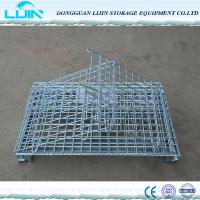 China Folding Logistic Security Storage Cage For Workshop Powder Coated Finish on sale