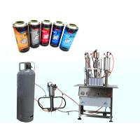 China Semi Automatic Car Spray Paint Filling Machine , Aerosol Filling Machine on sale