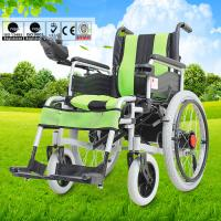 Disabled Electric Wheelchair , Compact Motorized Wheelchair For Old Person Manufactures