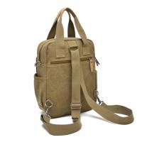 China Fashionable Leather Mens Canvas Shoulder Bags Vegan Lightweight on sale