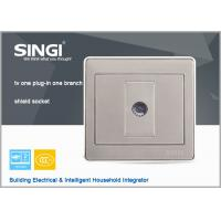Buy cheap modern design wall switch and socket, 1Gang TV wall switches and sockets from wholesalers