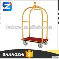 Stainless Steel Hotel Bellman Luggage Trolley/Baggage Cart Good Quality