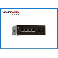 Aluminum Material Industrial Ethernet Switch , Lightweight 5 Port Ethernet Switch Din Rail Manufactures