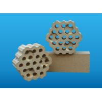 Glass melting furnace / hot blast stove use checker refractory bricks with holes to insulation