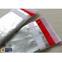 Fireproof Bag Document 1022℉ Fire Resistant Pouch Fiberglass Silver Smooth Manufactures