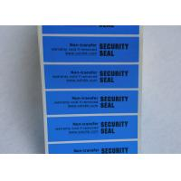 Anti - Counterfeiting Non Residue Security Labels / Anti - Fake VOID Sticker Manufactures