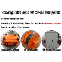 China Oval-shape Lifting Electromagnet for Steel scraps loading from Narrow-shaped Container on sale
