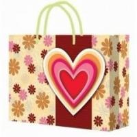 Customized Handle Paper Bag for Shopping / Heart Gift Paper Bags for Souvenir Manufactures