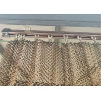 China new stainless steel copper-colored flat silk spiral decoration net  can do building outsourcing on sale