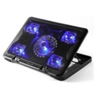 5.6 laptop cooler stand 5 LED fan notebook cooling pad with speed control Manufactures