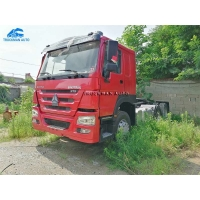 China 375HP SINO Used Tractor Truck For Sale With New Tire on sale