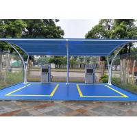 Lightweight Tensile Membrane Structures Metal Frame Car Park Canopy For Wash Manufactures