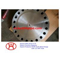 ASTM A105 Blind Flange with 1/2 inch NPT hole Manufactures