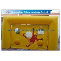 Popular Yellow Small Inflatable Soccer Game For Football Throwing Exercise Manufactures