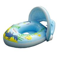 "PVC Baby Boat Float Inflatable Swim Ring Kids Water Seat With Canopy Horn 30*22"" Manufactures"