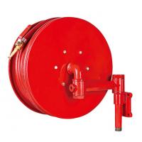 Red Fire Hose Reel And Cabinet Automatic / Manual Swinging Fire Water Hose Manufactures