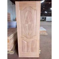 China Swing Open Sapele MDF Door Skin Panel For Exterior Wood Doors 2-4mm Thickness on sale