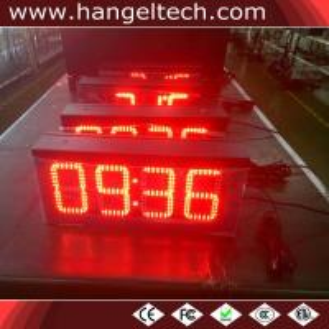 10 Inches High Brightness Waterproof LED Digital Wall Clock Display Manufactures