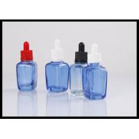 Square Essential Oil Glass Bottles 30ml E Liquid Glass Container Round Shape Manufactures