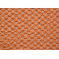 Nylon Spandex Cotton Stretch Lace Fabric Orange For Curtains SGS CY-LW0667 Manufactures
