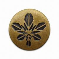 Nickel/Lead-free Jean Button, Made of Brass Material, Available in Various Colors Manufactures