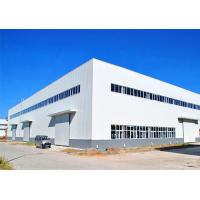 Steel Prefabricated Warehouse Building / Large Span Steel Frame Industrial Buildings Manufactures