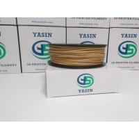 Natural Color 1kg Wood 3D Printer Filament 1.75mm / 2.85mm / 3mm  Good Toughness Manufactures