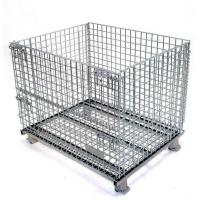 Stackable Folding Wire Mesh Cage Electro Galvanized 1000mm Midium Size Manufactures