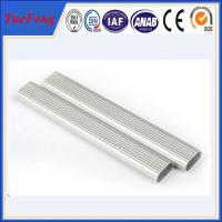 Hot Sale Customized Oval Tube Silver anodizing Aluminium Profiles Manufactures