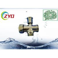China F1/2'xM1/2xM3/4Three Way Chrome-Plated Brass Shower Faucet Diverter Valve With Zinc Handle on sale