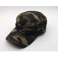 Durable Camouflage Military Cadet Cap Pure Cotton 3d Embroidery Fitted Manufactures