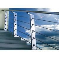 China Silver Color Stainless Steel Railing For Protection Personal Safety GB Approved on sale