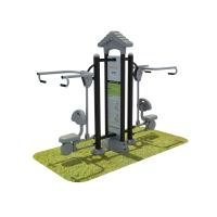 Aluminum Steel Fitness Equipment Outdoor , Garden Fitness Equipment Manufactures