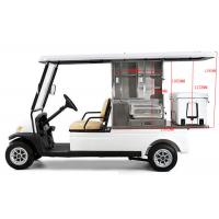 China 48V Battery Operated Golf Beverage Cart , Golf Cart Food Cart With Refrigerator on sale