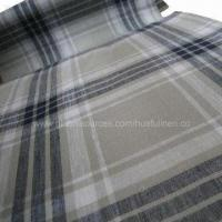 Yarn-dyed Checkered 100% Linen Fabric, Eco-friendly Manufactures