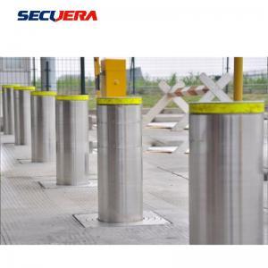 China reflective road barrier stainless steel warning bollard ss304 fixed bollard on sale