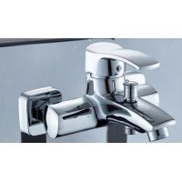 China Adjustable Tap Nickel Bathroom Sink Faucet , Hot Cold Contemporary Kitchen Faucets on sale