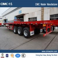 tri-axle 40ft flatbed container semi trailer for sale from CIMC Vehicle Manufactures