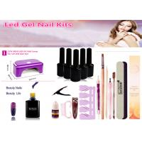 OEM / ODM LED Nail Gel Kit With 12W LED UV Nail Lamp No Harm To Human Body Manufactures