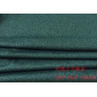 88%P 12%SP Cotton Knit Fabric Dark Blue Striped Jacquard Fabric For Clothes Manufactures