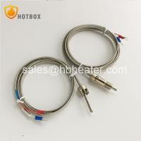 Buy cheap PT100 Stainless Steel High Temperature Sensor K E Type Thermocouple for Plastic from wholesalers