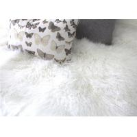 Tibetan Sheepskin Throw Blanket , Mongolian Fur Throw Blanket For Winter Coat Manufactures