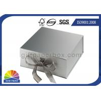 Customized Design Ribbon Closure Cardboard Gift Box 4C Printing Manufactures