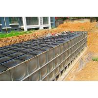 China Sectional Bdf Underground Water Storage Tanks Black Color Anti Rust Never Leaked on sale