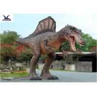 Attractive Animatronic Jurassic Dinosaur Garden Ornaments Mouth Movement With Sounds Manufactures